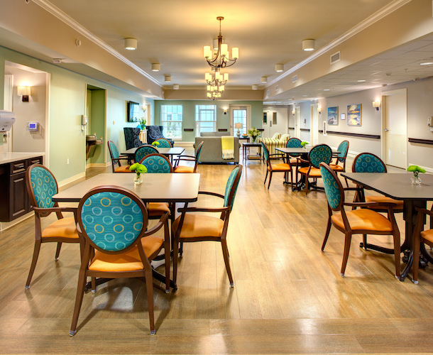 Renovated Nursing Home Dining Room